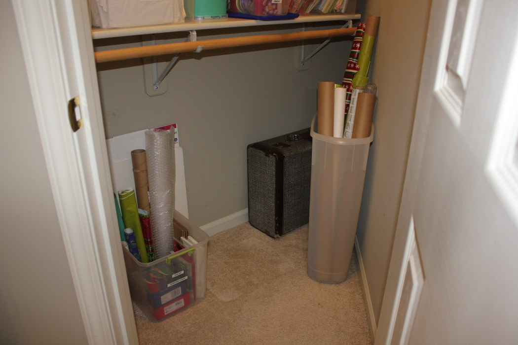 Congested Closet Turned Creative Corner - organized floor space
