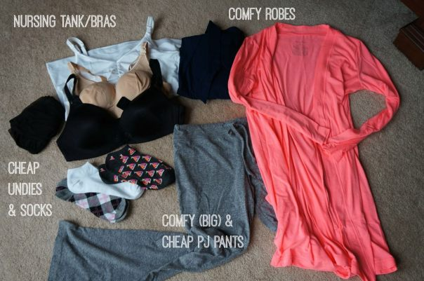 clothing to pack for hospital delivery