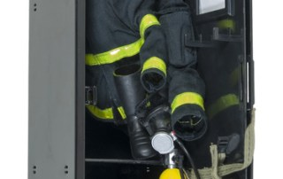 Fireman Gear in a Locker