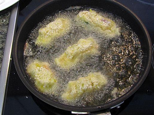 frying colcannon croquettes
