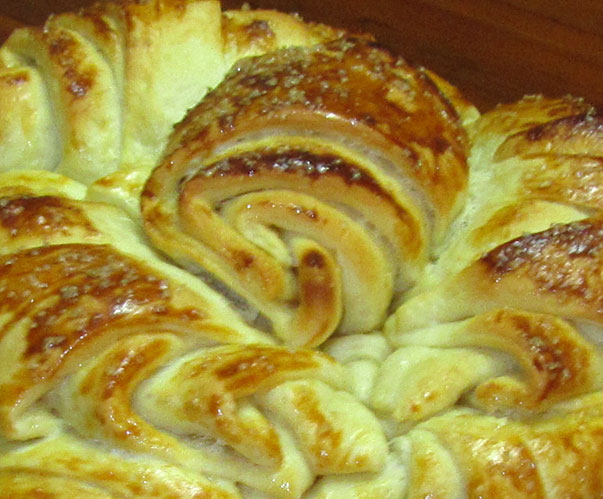 pitka with honey and butter