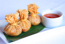Thai money bags appetizer