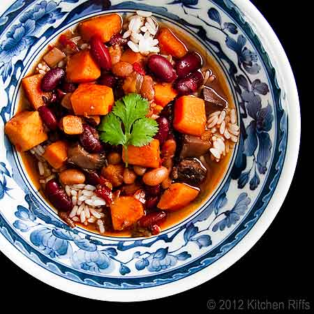 Red-Braised Beans and Sweet Potatoes by kitchenriffs.com
