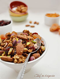 homemade granola by Sawsan at chefindisguise.com