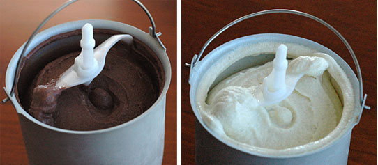 Queen Make at Home chocolate and vanilla gelato