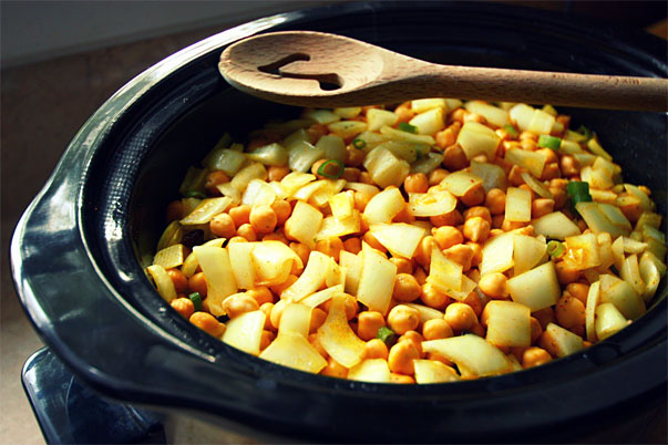 Moroccan Couscous in a slow cooker