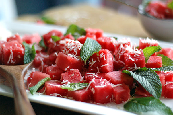 watermelon and coconut