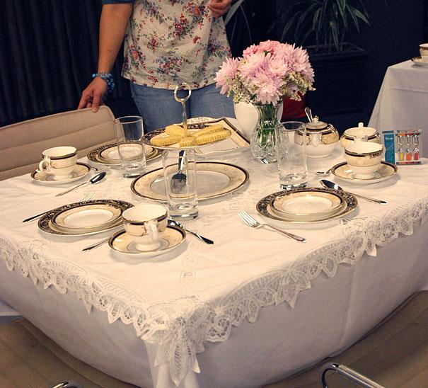 Dilmah High Tea Challenge Setup