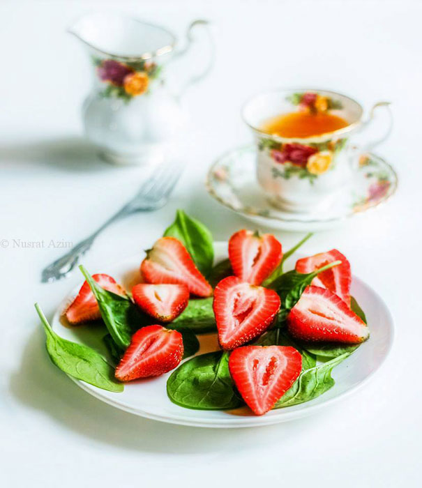 Strawberries and Spinach