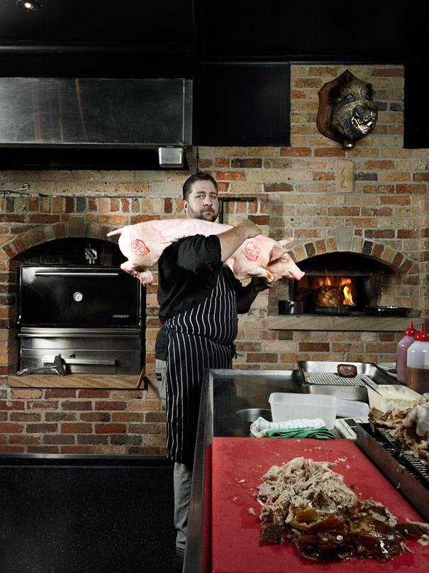 Dave Linsey and the Alfred and Constance Wood Fired Ovens