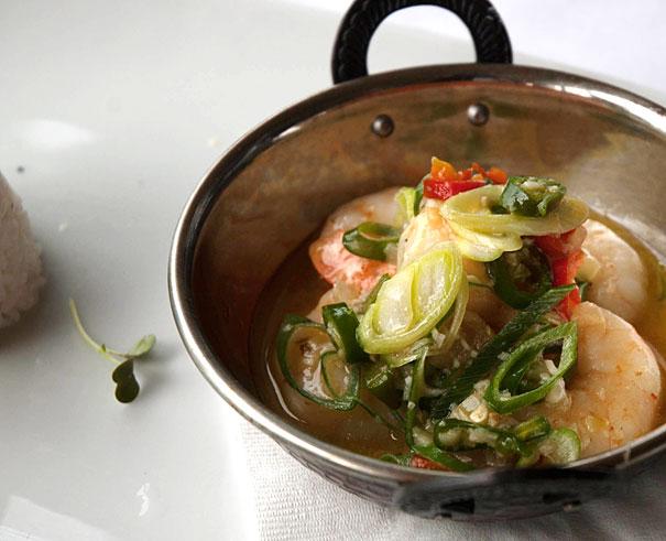 Garlic and Chilli Prawn Hot Pot