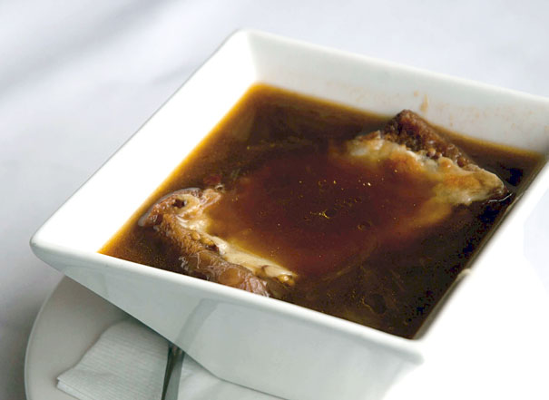 smoked ham hock and onion soup