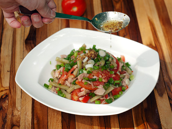 Yard Long Bean Salad with Tuna and Dijon Dressing