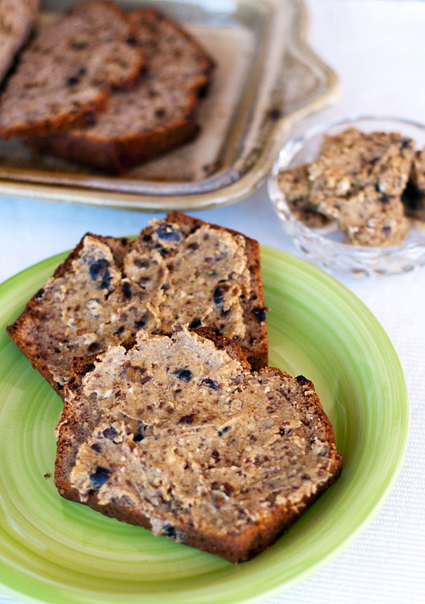 Banana and Date Bread with Buttery Pecan and Date Spread