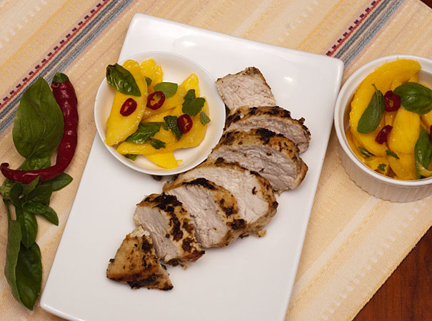 Lime and Cumin Chicken with Mango Salsa