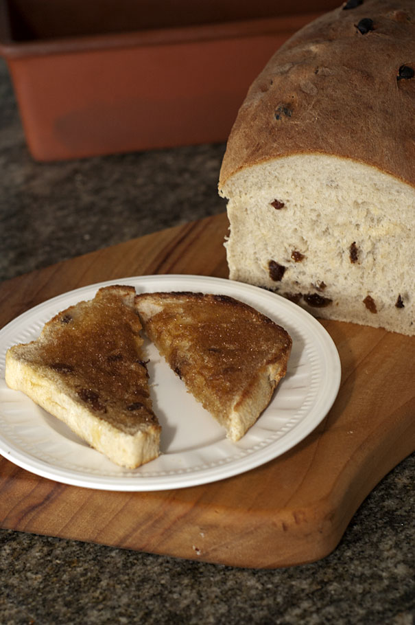 Thermomix Sultana Bread with cinnamon sugar