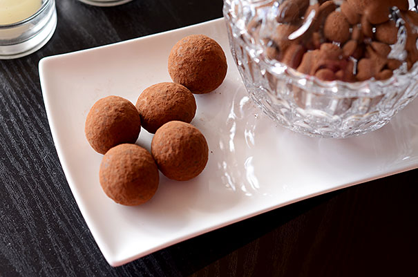 Roasted macadamia nuts covered in rose flavoured dark chocolate