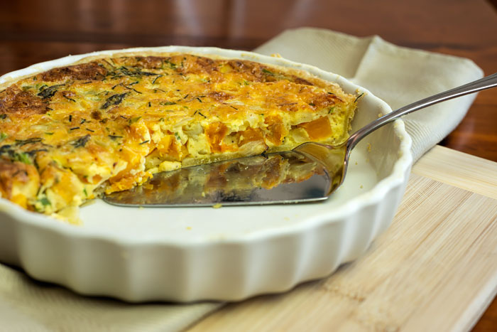 Pumpkin and Asparagus Quiche