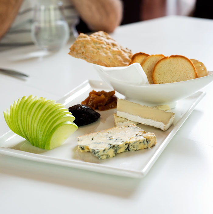 Cheese plate with stilton and brie
