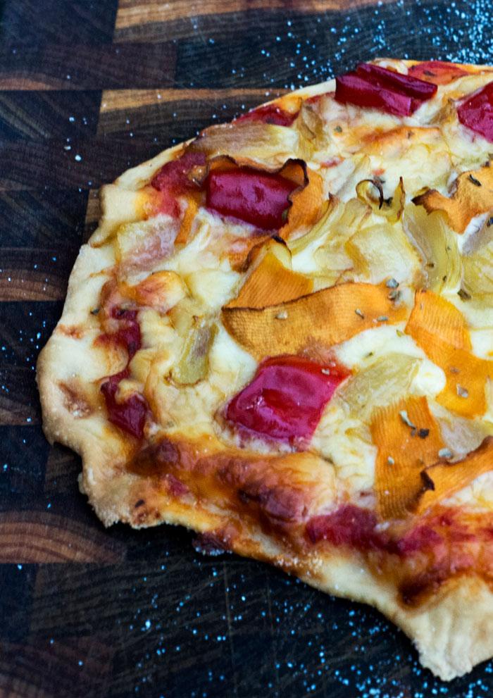 Butternut pumpkin pizza