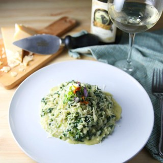 Fresh Spinach and Gorgonzola Cheese Risotto
