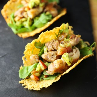 Low Carb Chicken Tacos with Parmesan Shell
