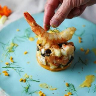 Shrimp Fennel Orange and Moroccan Olives Tartare