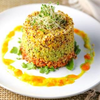 Tri Color Quinoa Tower