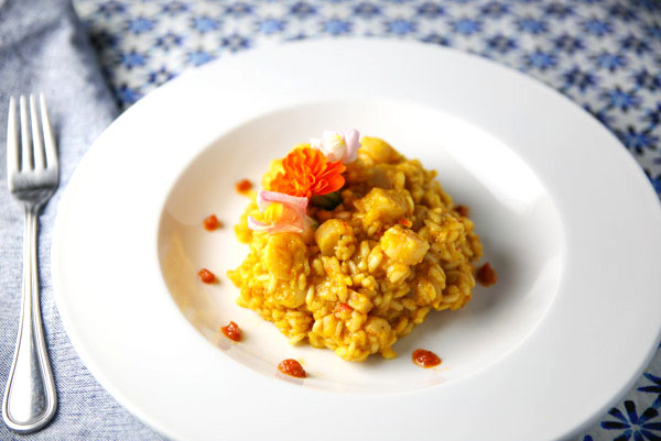 These Bay Scallops with Bell Peppers and Ginger Risotto are easy to make. Each bite is so luscious and velvety, it will definitely leave you wanting more!