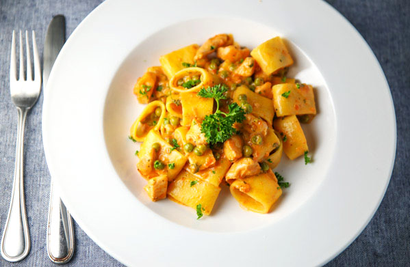 This calamarata with fresh salmon in a light vodka pink sauce is so download this recipe as a pdf click here forumfinder Image collections