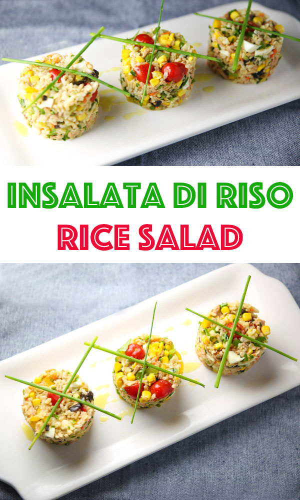 Insalata Di Riso (Rice Salad) - This is a popular salad during the summer months in Italy. This salad is so light, refreshing, and full of goodness!