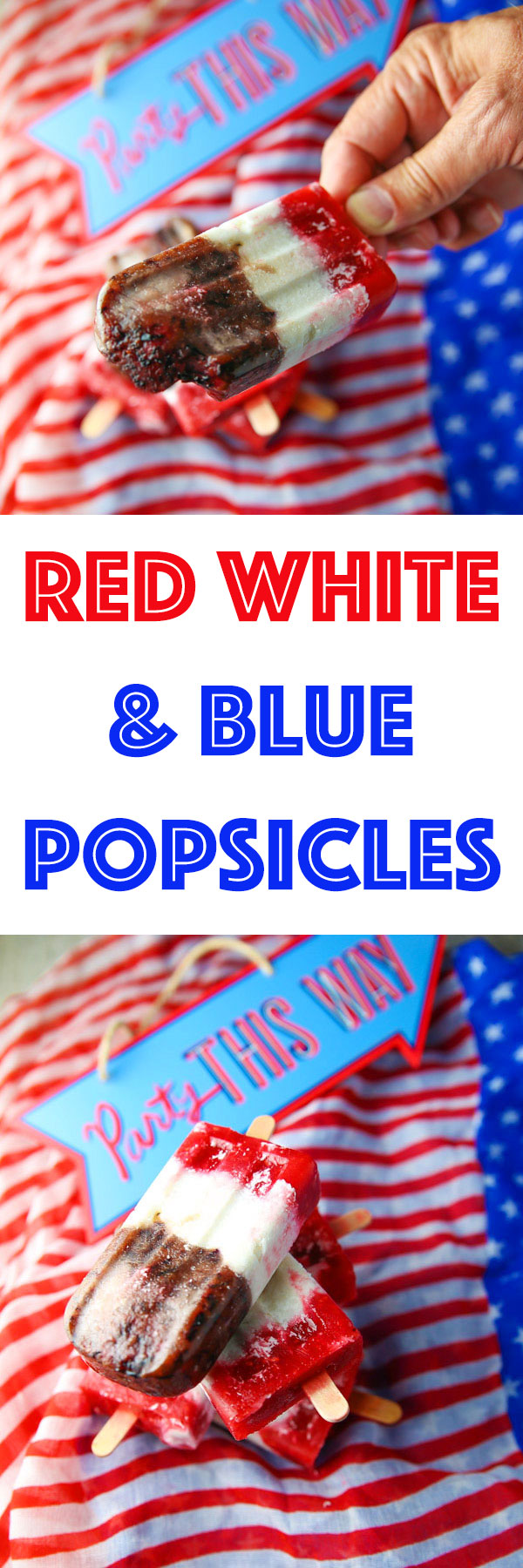 These Red White and Blue Popsicles are perfect for your next Fourth of July party and are super easy to make!