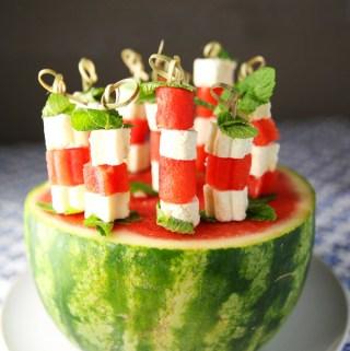 Feta Mint Watermelon Skewers