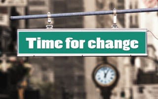 Time for Change sign post