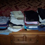 Organizing clothes for the seasons….