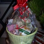 The best part of a Christmas basket is?