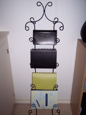 Notebook Holder & How many uses for a plate rack? -