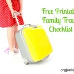 Free Printable Family Travel Checklist