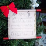 Christmas Carol Scroll Ornament