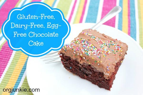 Gluten-free, Dairy-free, Egg-free Chocolate Cake 1