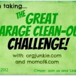 The Great Garage Clean Out Challenge ~ Week Three