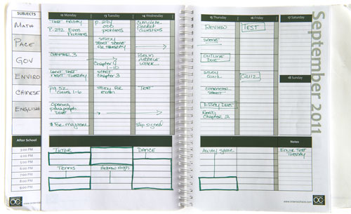 student agenda planners