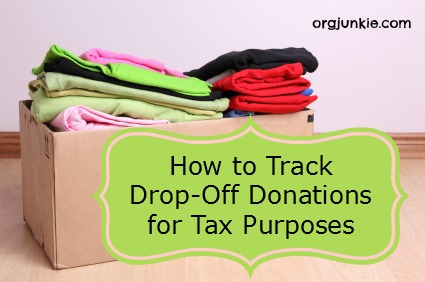 How To Track DropOff Donations For Tax Purposes - How to organize invoices on excel online thrift store furniture