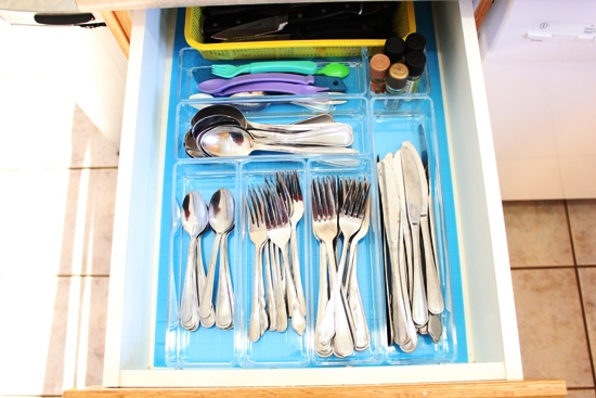 cutlery drawer after