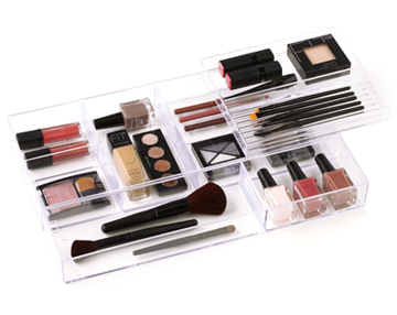 stackable cosmetic trays