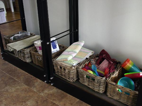 lower shelves messy