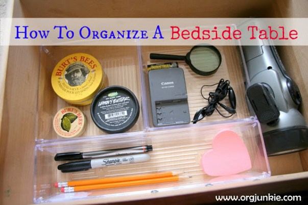 How To Organize A Bedside Table