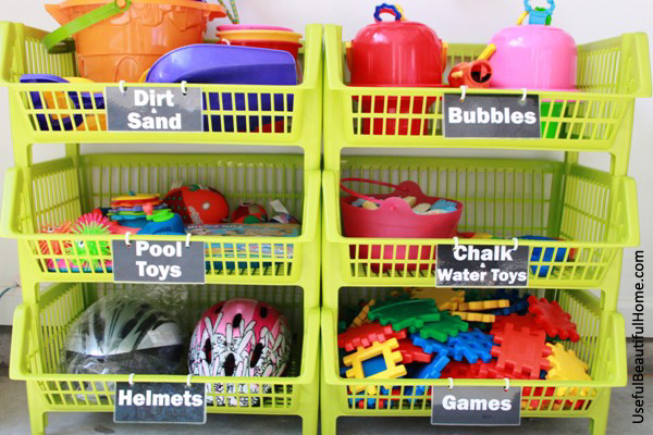 UBH Kiwi Bins for Garage Toy Storage