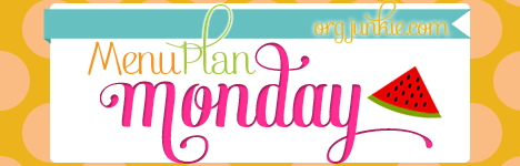 Menu Plan Monday for the week of June 8/15 with quick and easy recipe ideas and inspiration