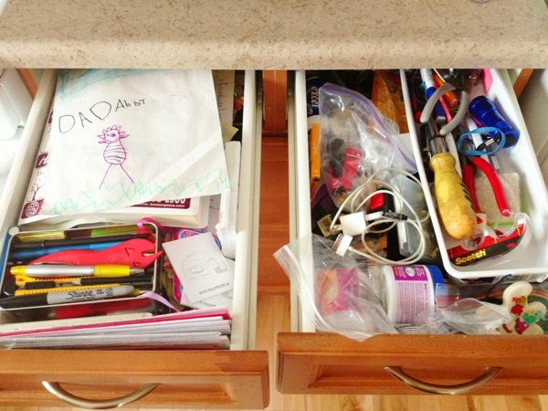 junk drawer organization before